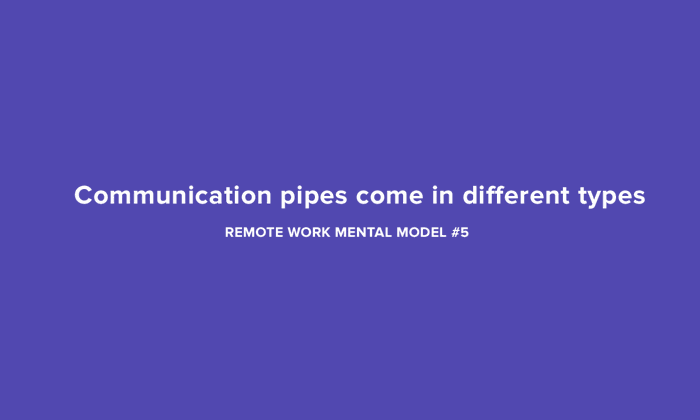 Communication pipes