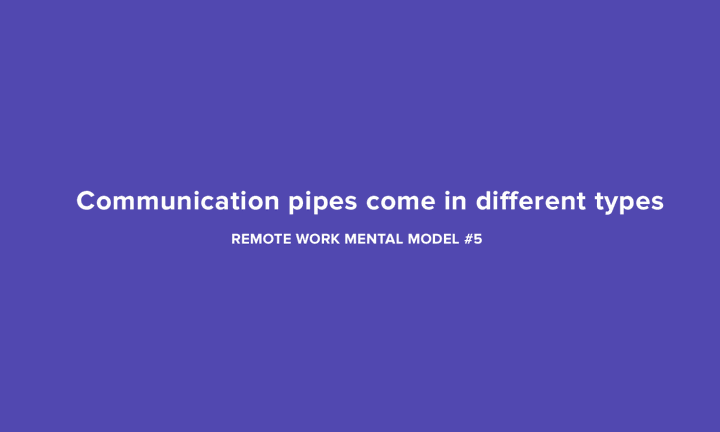 Communication pipes come in different types