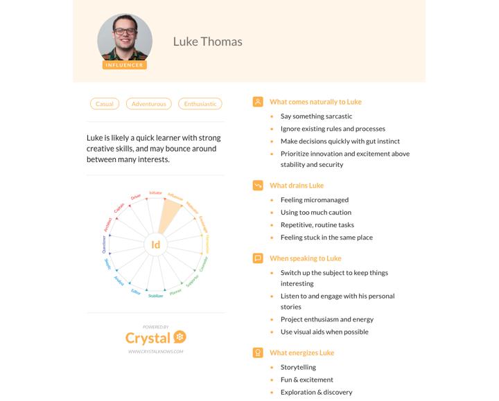 Personality Profile