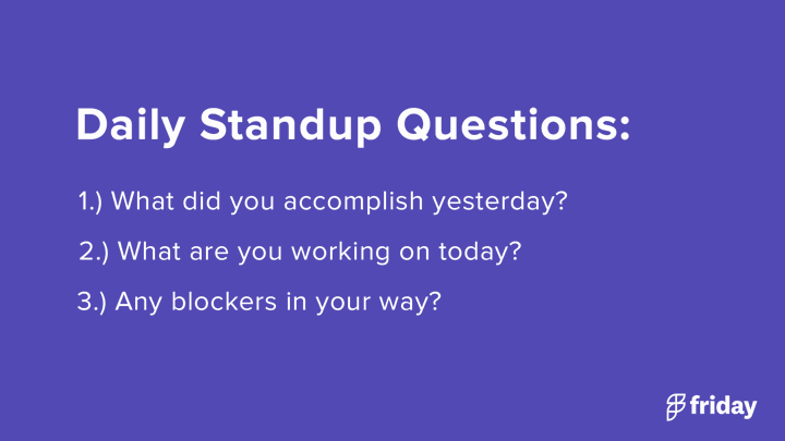 Daily Standup Questions