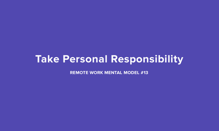 Personality Responsibility Remote Work