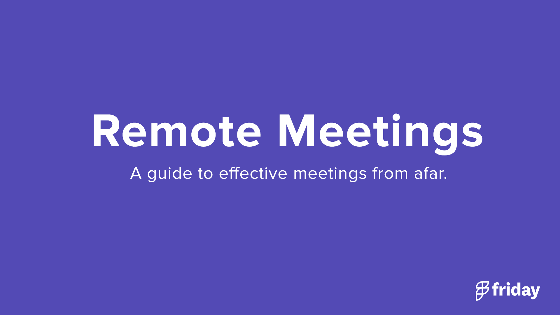 Remote Team Meetings