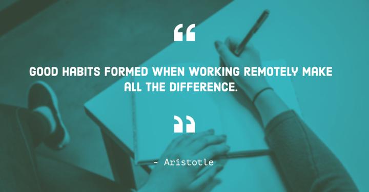 Remote work aristotle