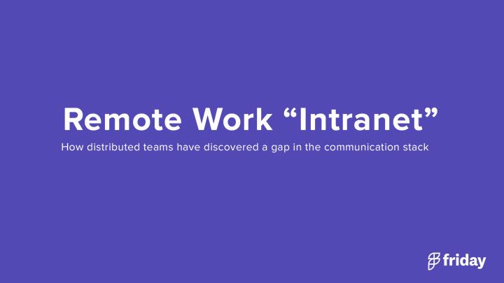 Remote Work Intranet