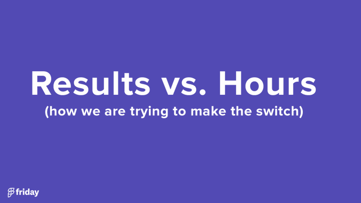 Results vs. Hours