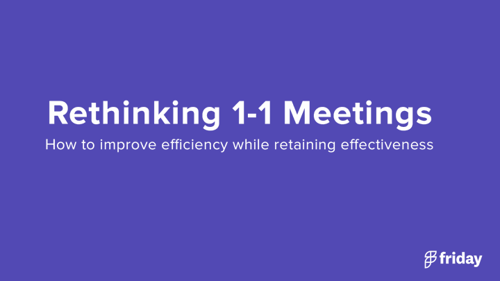 1-1 Meetings