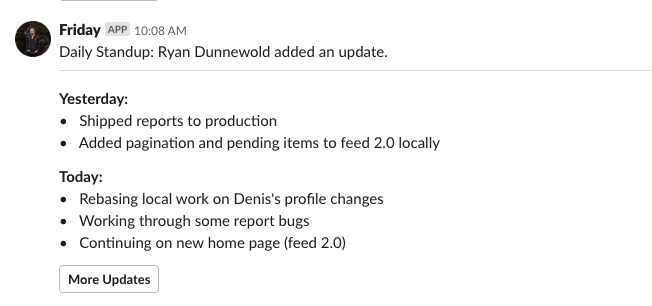 Slack notifications
