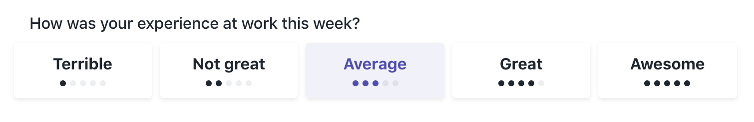 Weekly Check-in Sentiment