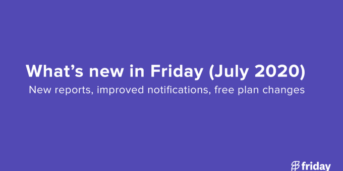 What's New in Friday: New Reporting, Github integration, & changes to our free plan