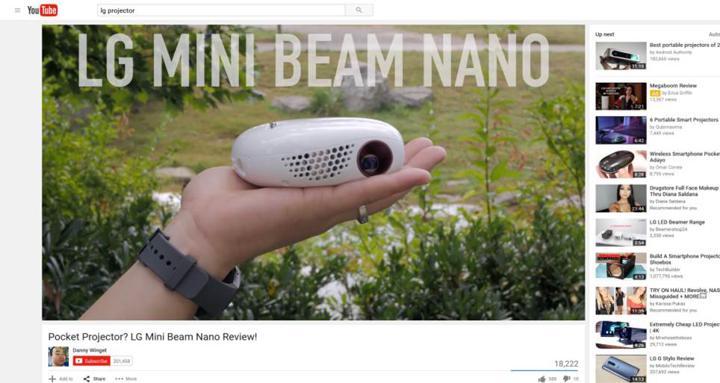 LG Mini Beam Nano