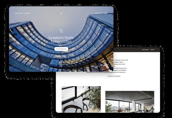 Nettside designet og utviklet for KLP Eiendom