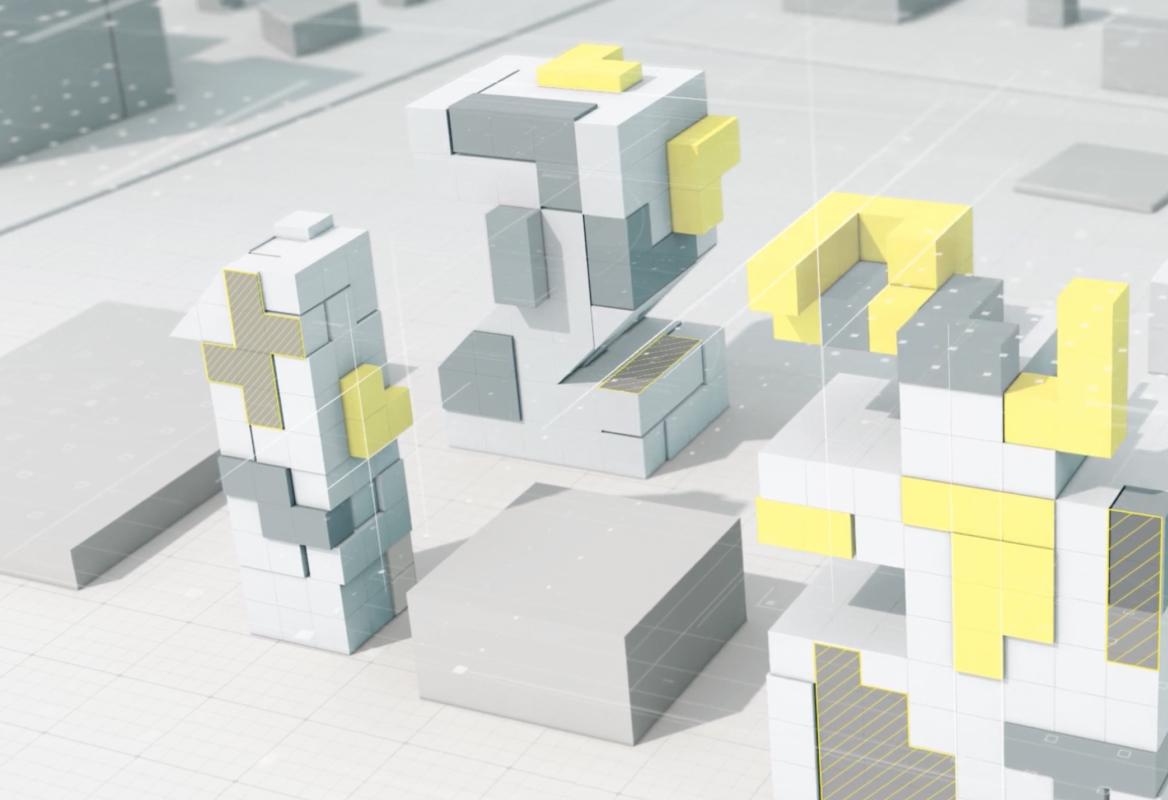 3D-illustrasjon Parallello