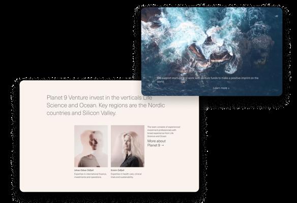 Nettsider for Planet 9 Ventures