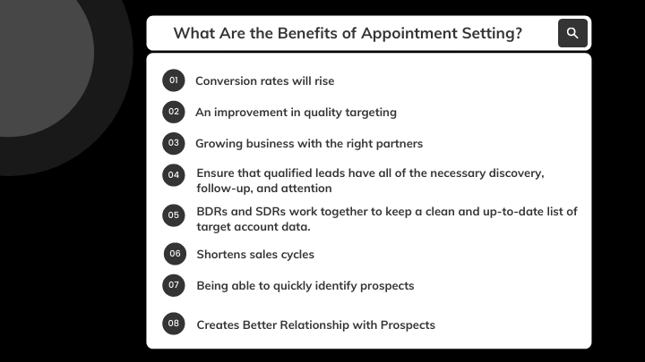 Benefits of b2b appointment setting