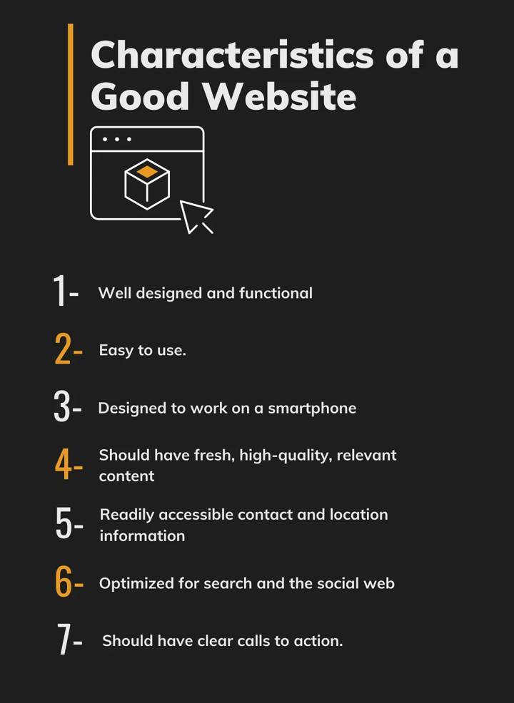 Characteristics of good website
