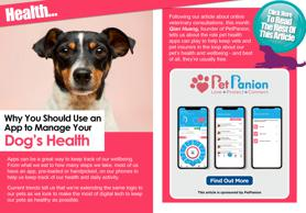 Use PetPanion app to control pet's health!