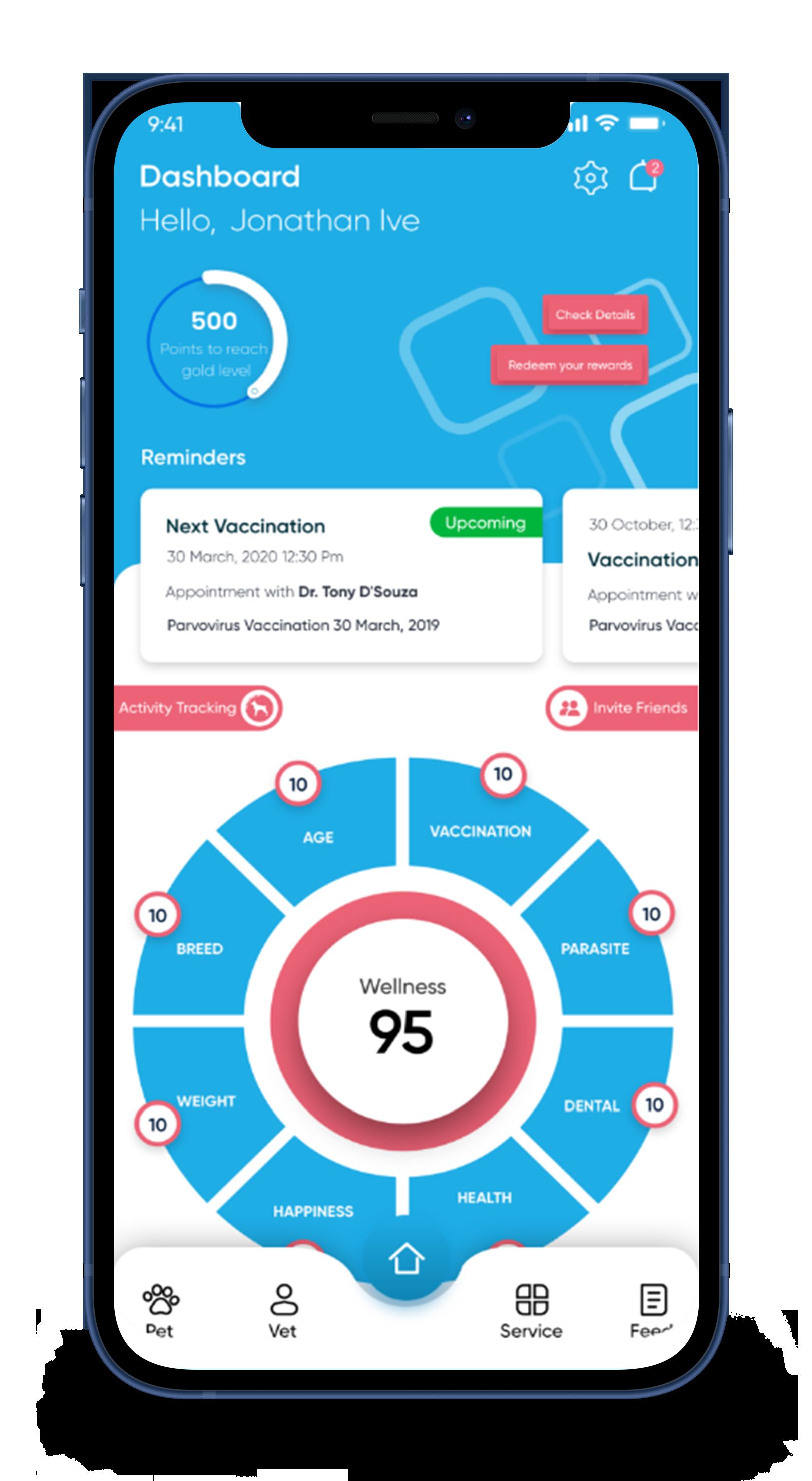 wellness score screenshot