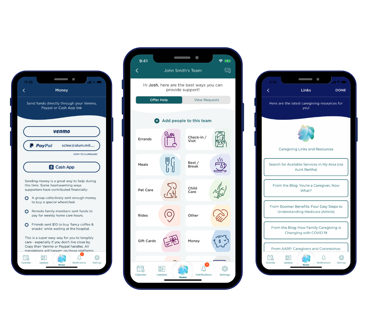 June 2020 updates to the ianacare app: New look, send money & get resources