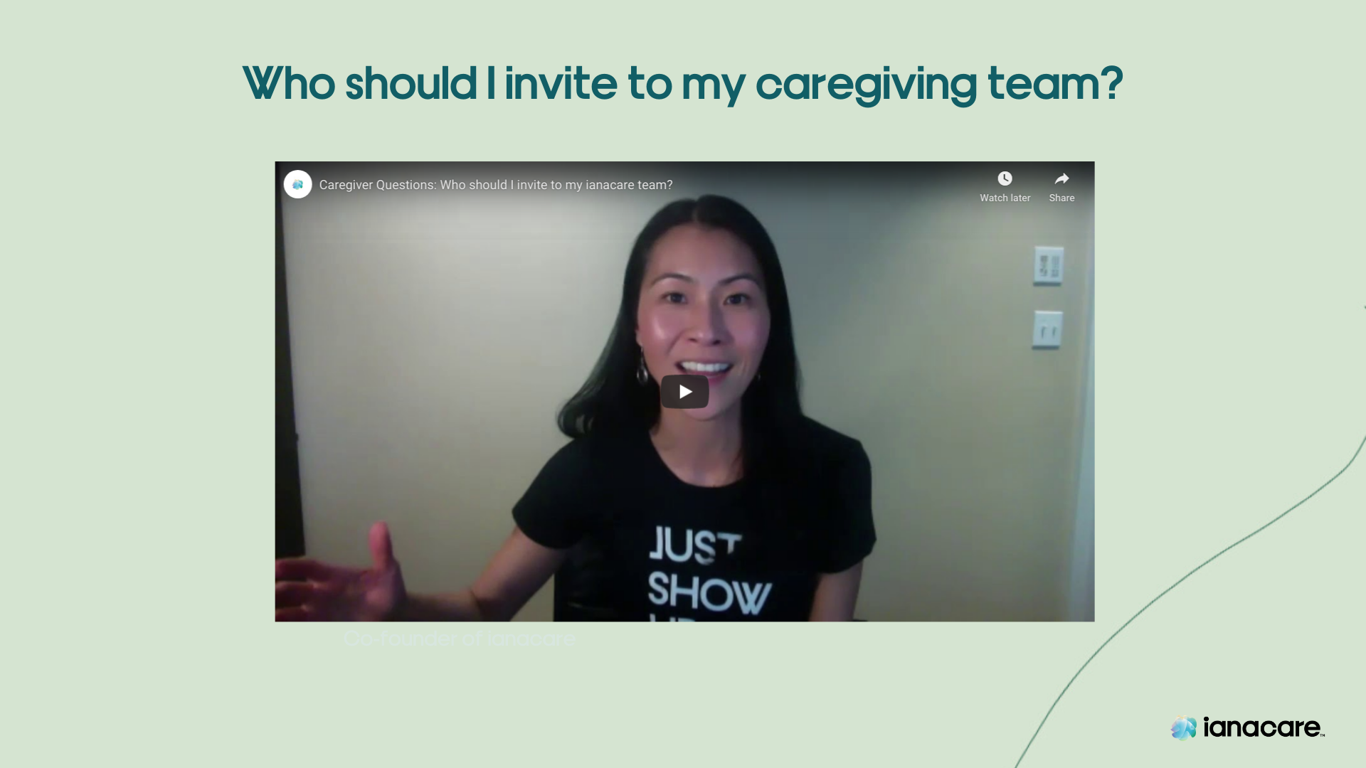 Caregiver Questions: Who should I invite to my support team?