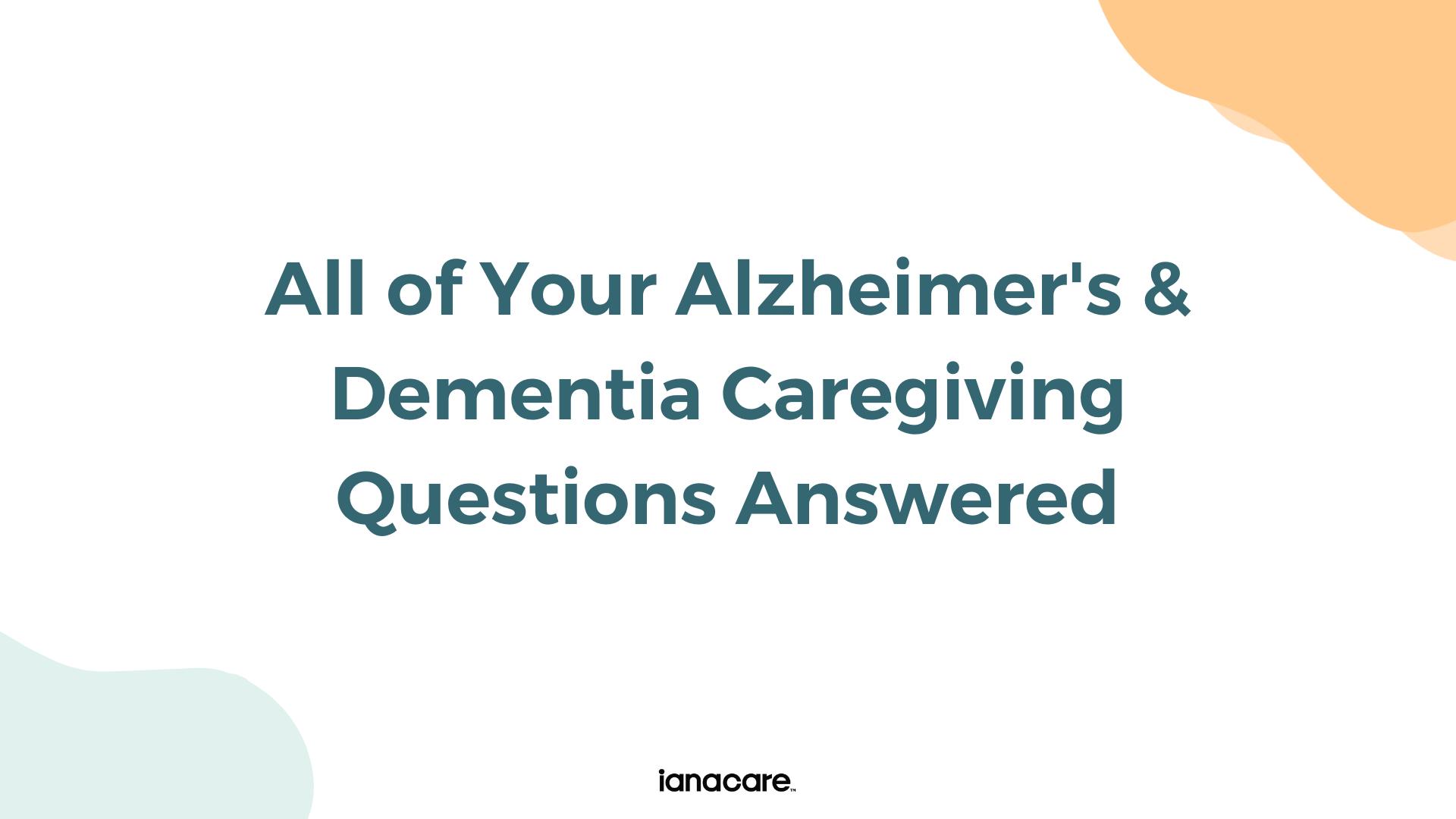 Watch: Alzhemier's & Dementia Caregiver