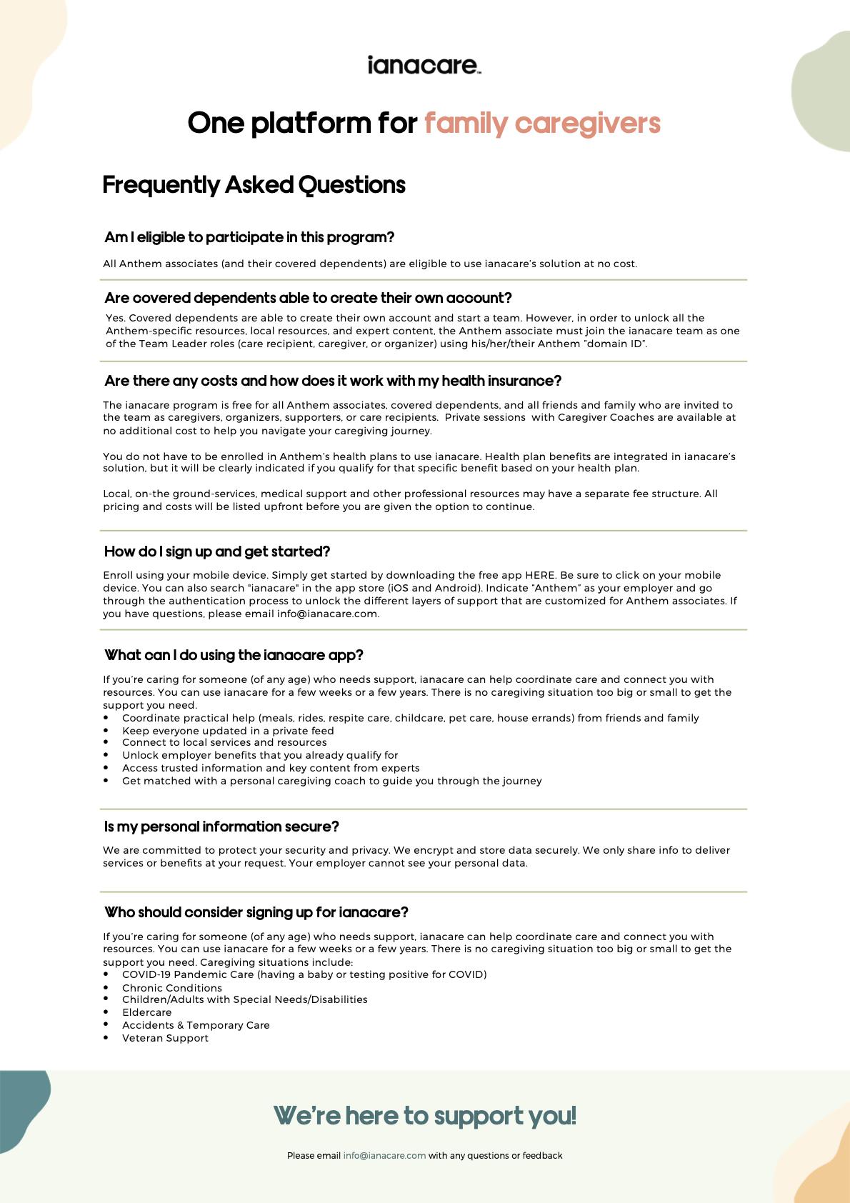 Caregiver Support FAQs
