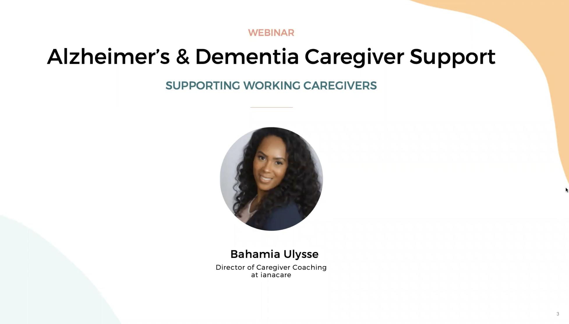 Watch:Alzheimer's & Dementia Caregiver Support