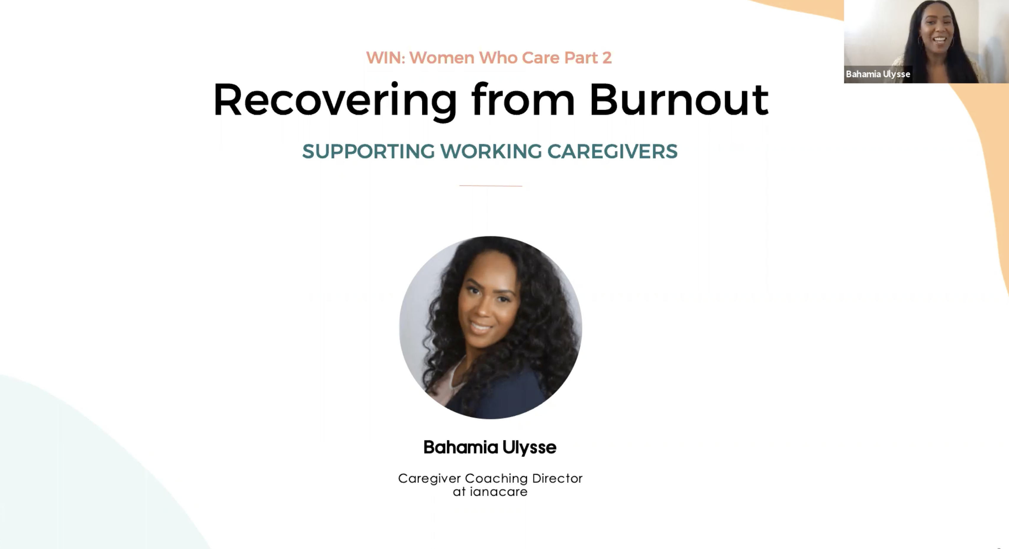 Watch: WIN Caregiving Series - Recovering from Burnout