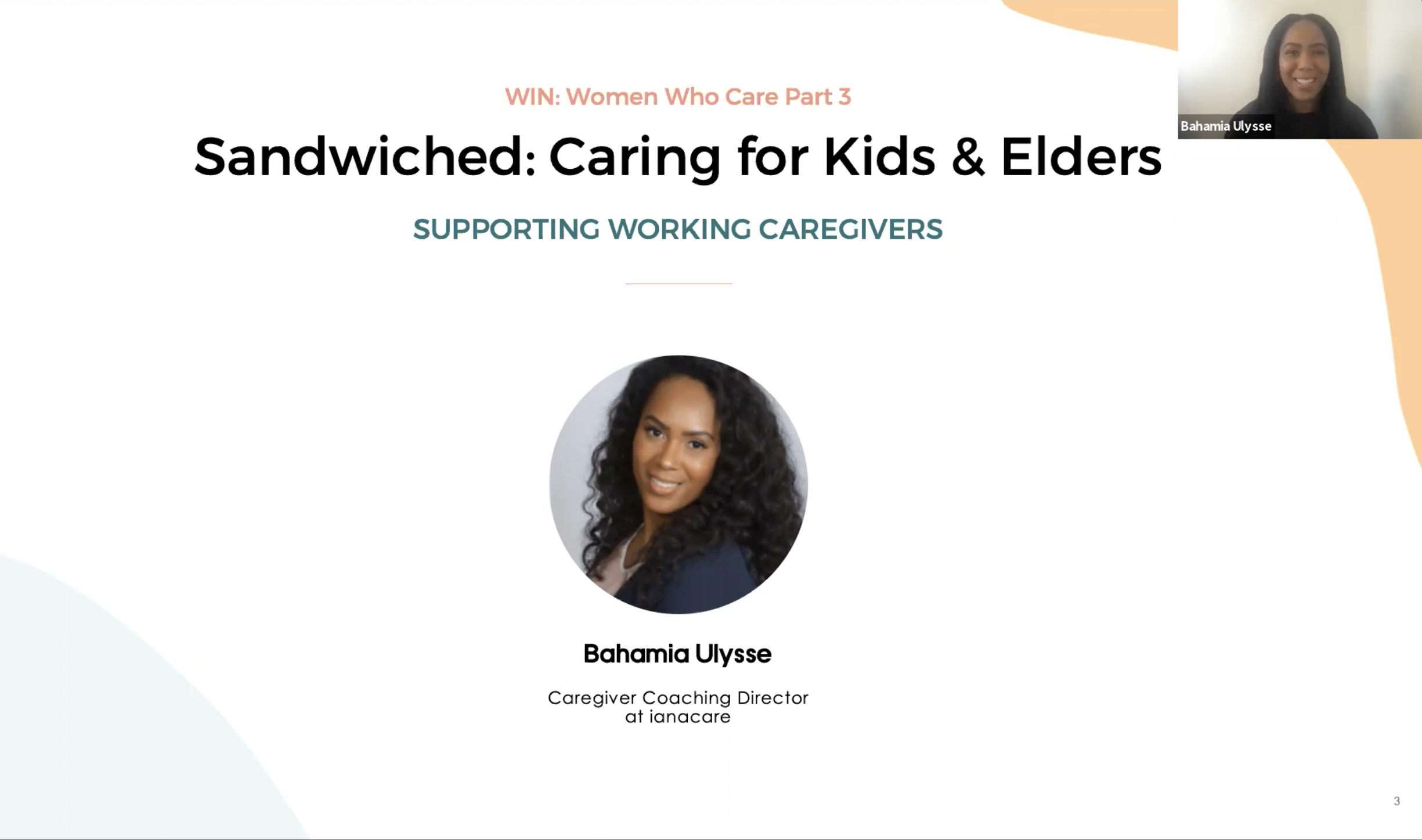 Watch: WIN Caregiving Series - Sandwiched - Caring for Kids & Elders