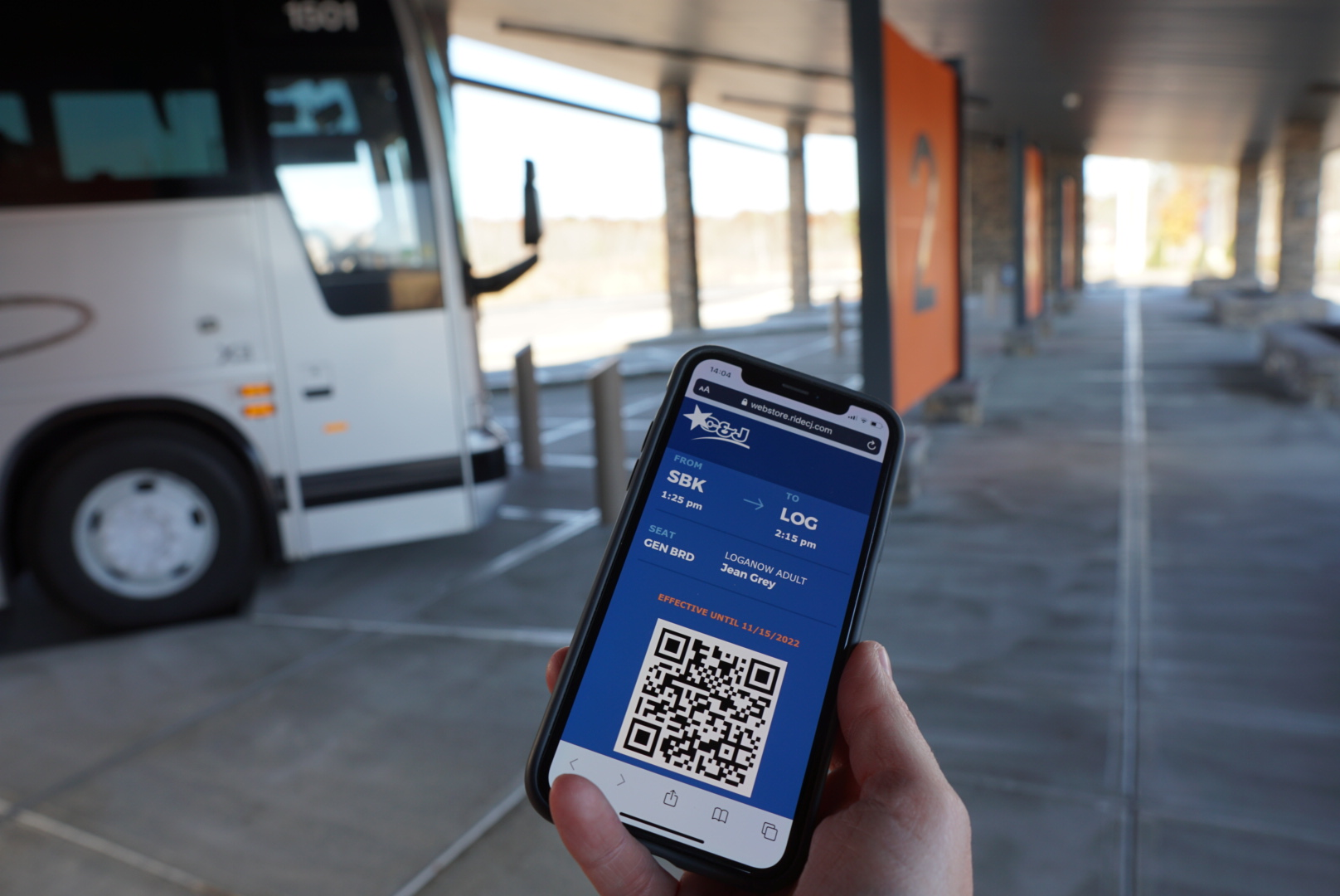 C&J Bus Lines - Photo of mobile ticketing