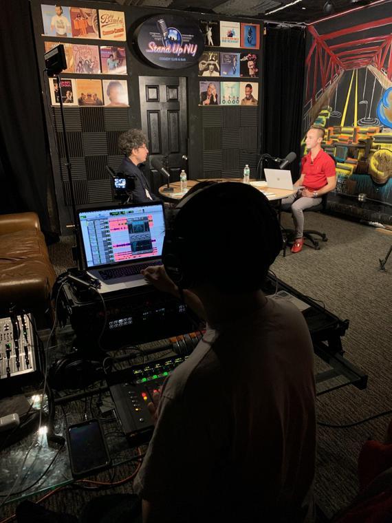 Jordan and James in the Studio