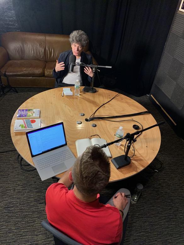 James and Jordan in the Studio