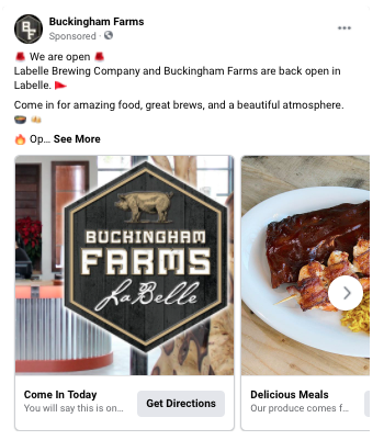 restaurant facebook ads