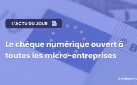 Chèque numérique: ouvert à toutes les micro-entreprises
