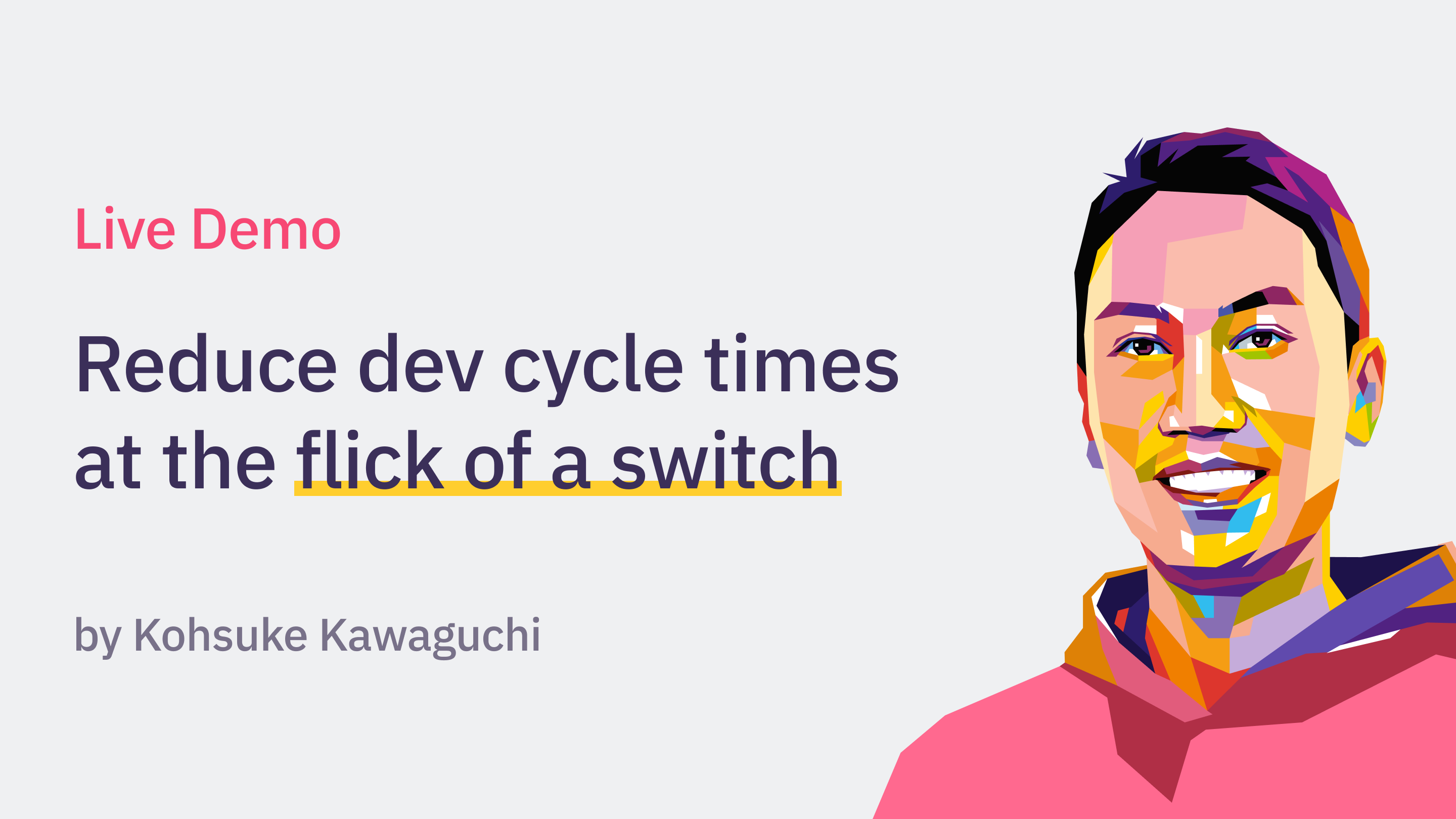 Kohsuke demos Launchable - reduce dev cycle times at the flick of a switch