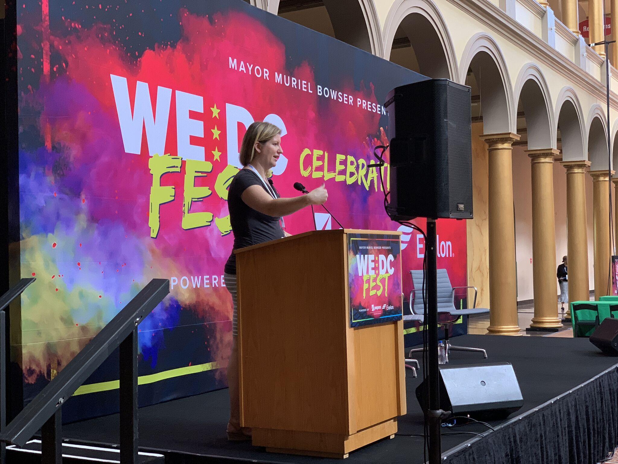 Laura speaking at We DC fest