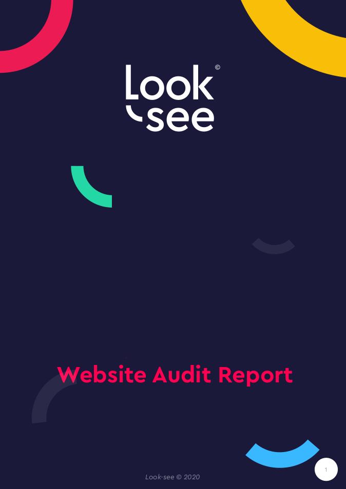 Look-see UX audit report cover screenshot