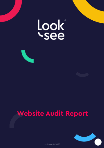 Look-see UX audit report cover screenshot