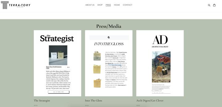 TERRA-TORY press page