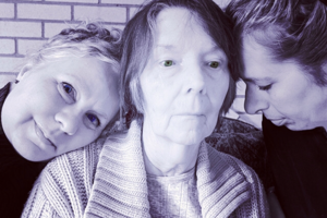 Caregiver with her family
