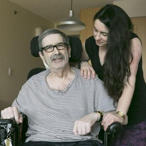 Caregiver with her father