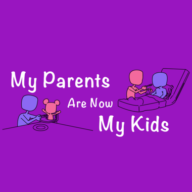 My parents are now my kids podcast logo