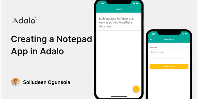 Creating a Notepad App in Adalo