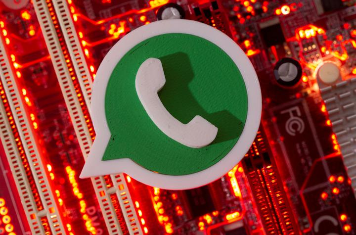 A 3D printed Whatsapp logo is placed on a computer motherboard in this illustration taken January 21, 2021. [Reuters]