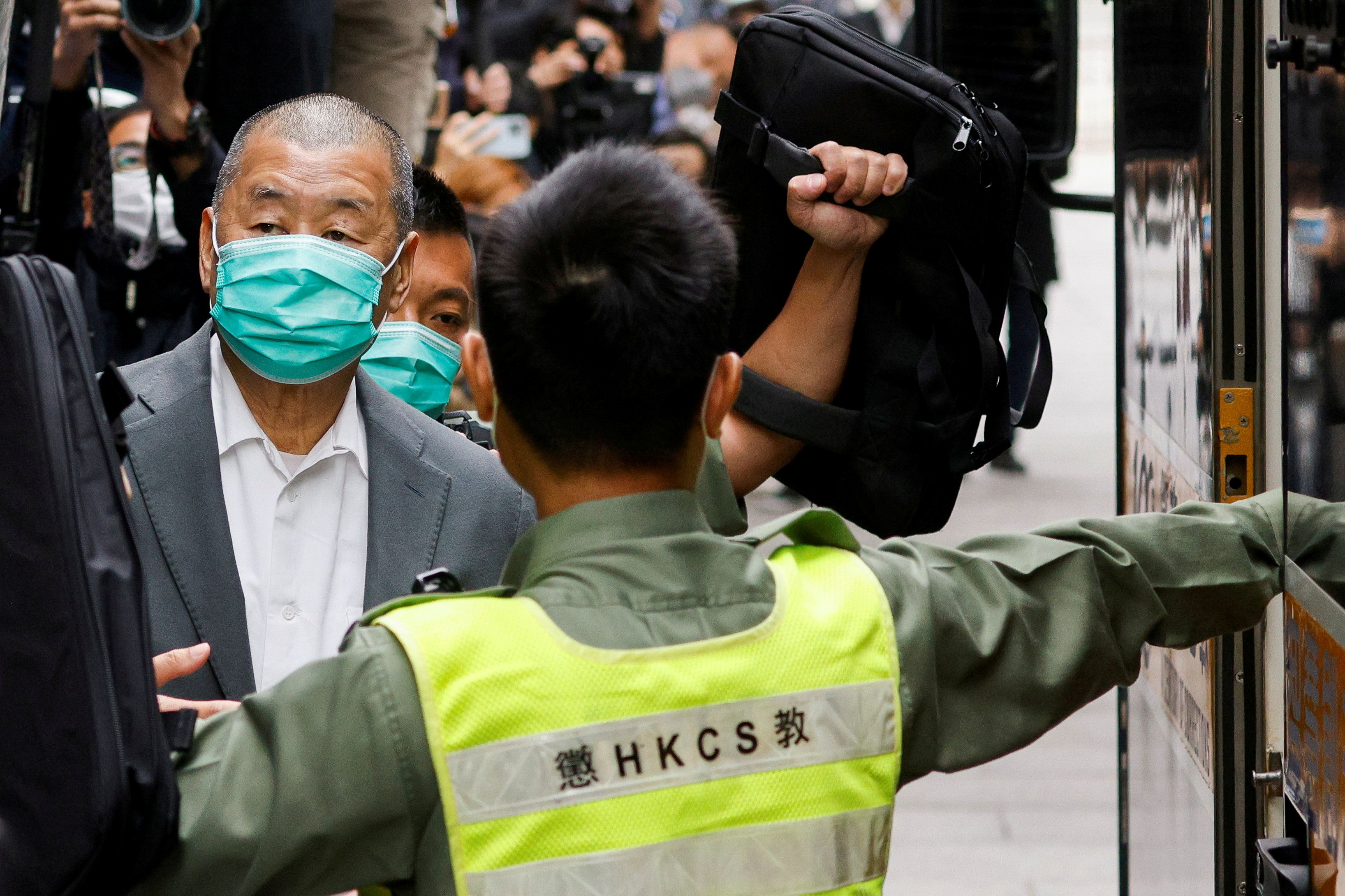 Jailed HK tycoon Jimmy Lai sentenced to 14 months for Oct. 1 illegal assembly
