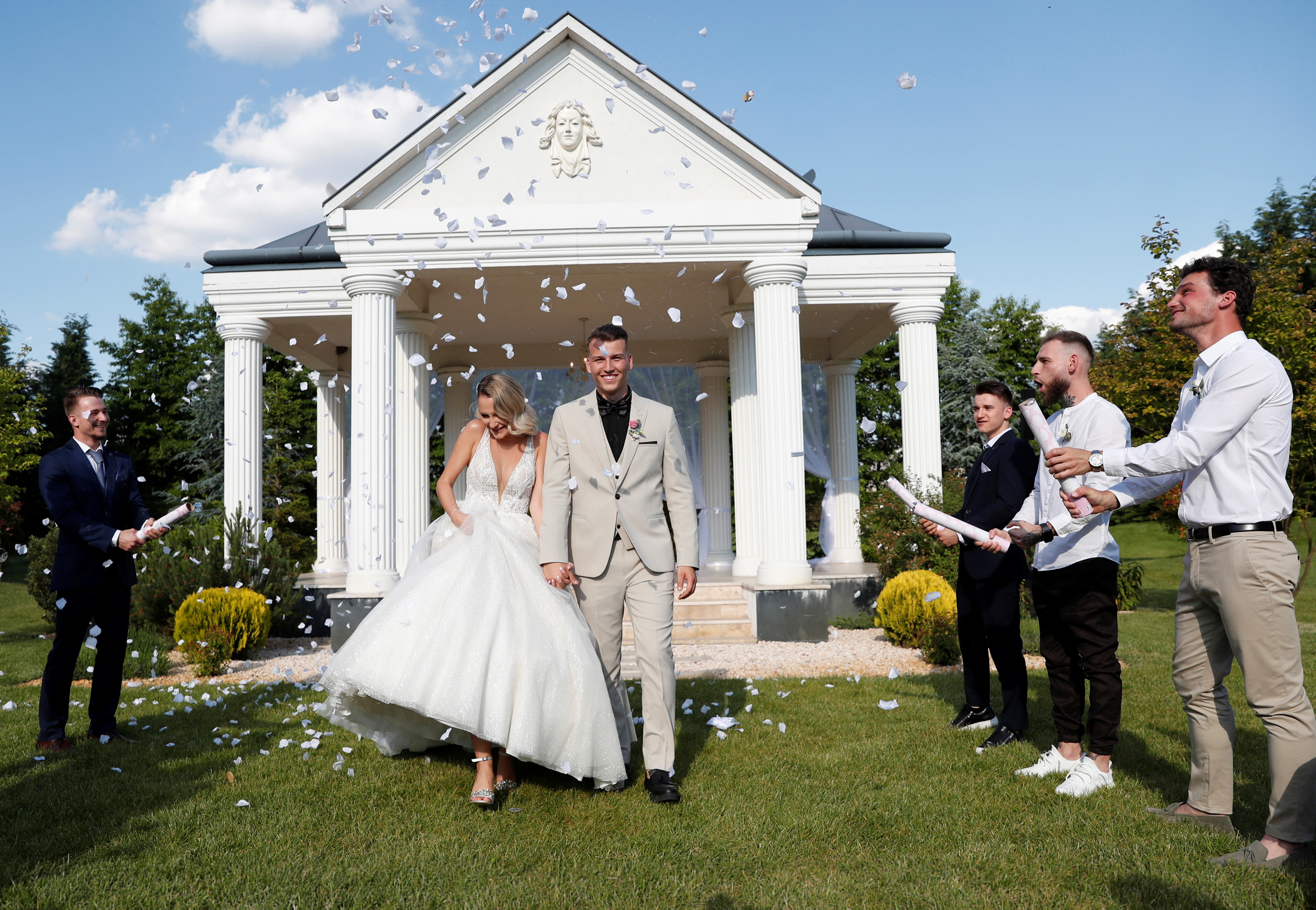 As Hungary lifts restrictions, couples can wed at last