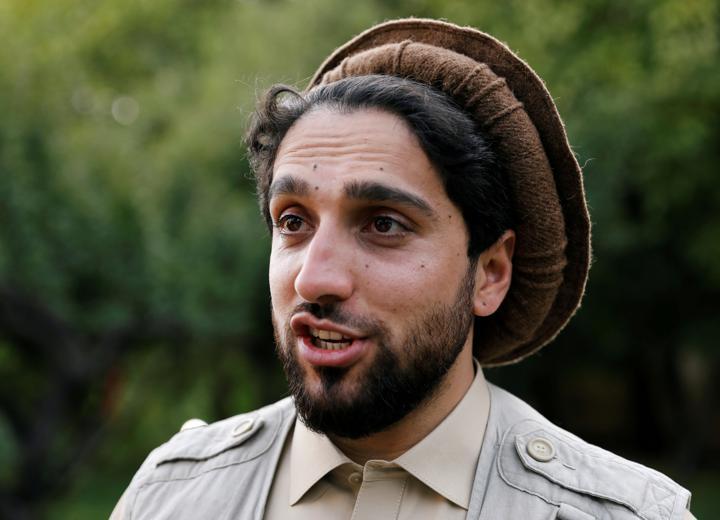 FILE PHOTO: Ahmad Massoud, son of Afghanistan's slain anti-Soviet resistance hero Ahmad Shah Massoud, speaks during an interview at his house in Bazarak, Panjshir province, Afghanistan, September 5, 2019. REUTERS/Mohammad Ismail