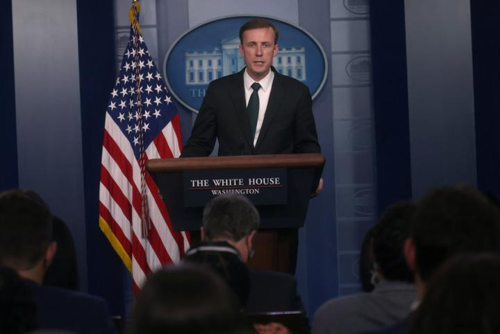 U.S. national security adviser Jake Sullivan takes questions from the media during a news briefing about the situation in Afghanistan at the White House in Washington, U.S., August 17, 2021. REUTERS/Leah Millis