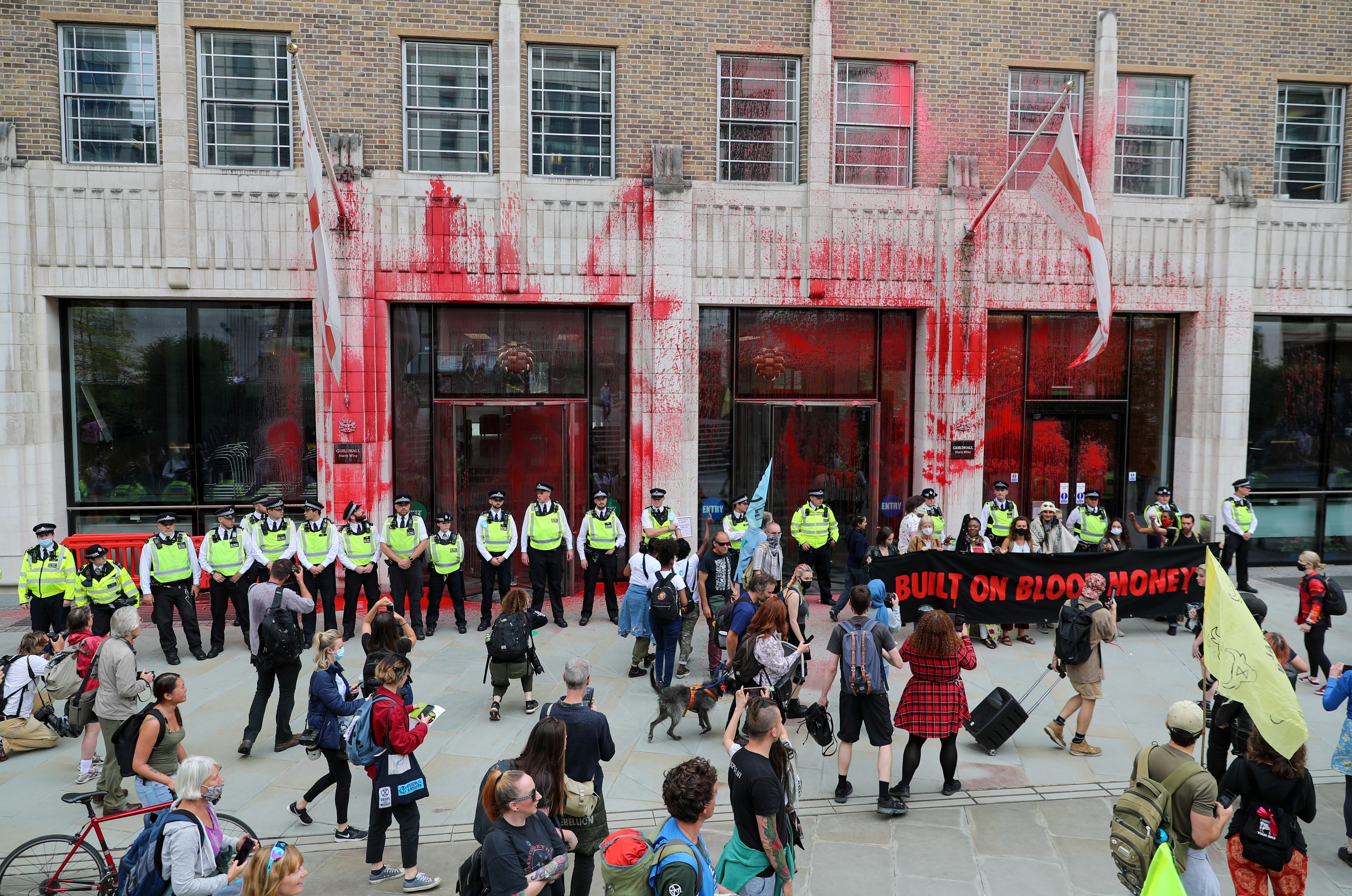 Climate activists deface City of London buildings in intensifying campaign