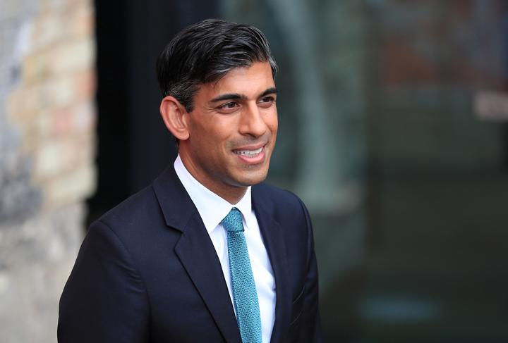 FILE PHOTO: Britain's Chancellor of the Exchequer Rishi Sunak arrives at The Sun's Who Cares Wins Awards in London, Britain September 14, 2021. REUTERS/May James