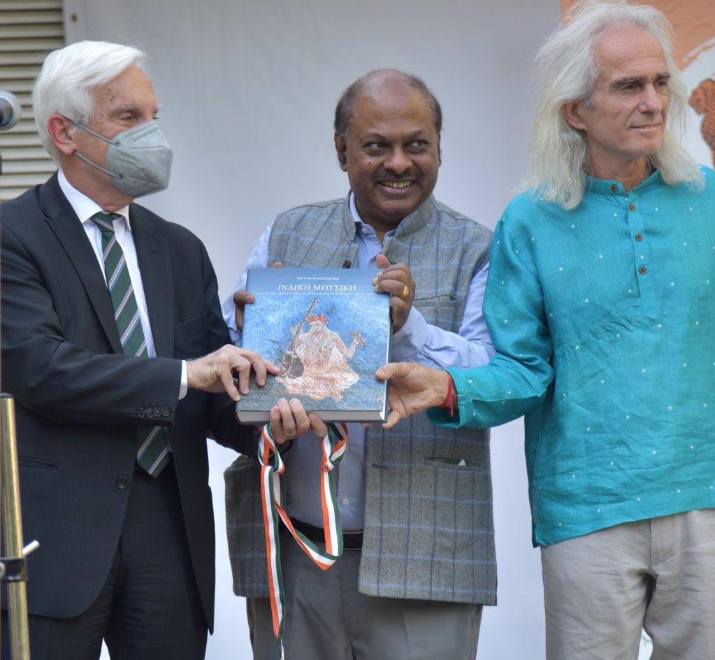 Greek artist Konstantinos Kalaitzis launches Book on 'Indian Traditional Music'